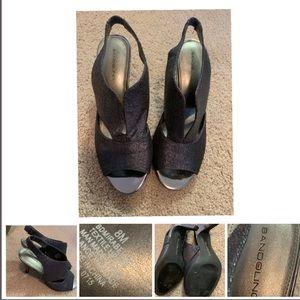 Bandolino Black Shimmer Pumps Size 8 M